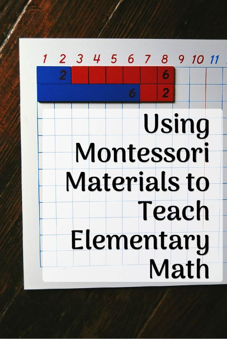 Elementary Montessori Math graphic