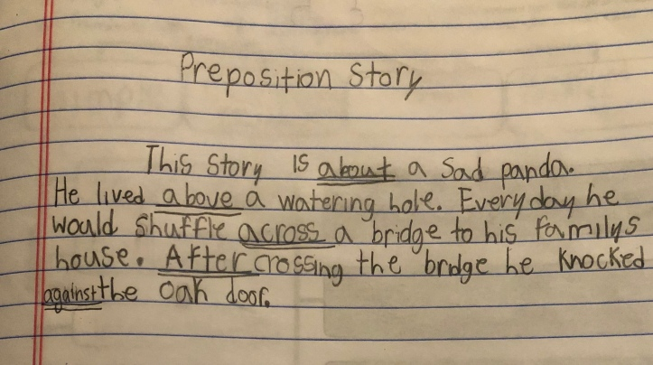 Preposition Story