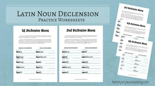 Latin Noun Declensions Worksheets